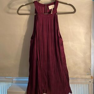 Laundry by Shelli Segal silk dark red blouse! NWOT